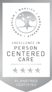 Planetree badge: Expertise in person centered care