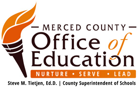 Merced County Office of Education logo.